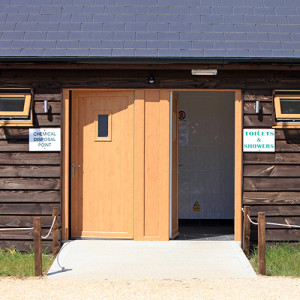 The Toilet and Shower block at Long Meadow Campsite