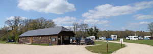 Long Meadow Campsite reception and toilet block