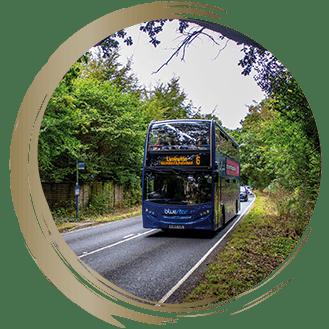 The No.6 bus route run between Southampton and Lymington
