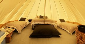 Inside Bell Tent at Long Meadow